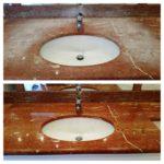 Шлифовка мрамора в ванной