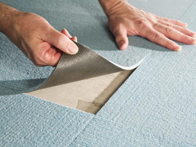 химчистка ковров на клееной основе
